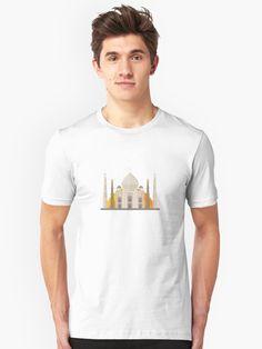 'Cute Taj Mahal India Travel Landmark' T-Shirt by passionemporium India Travel, My T Shirt, Tshirt Colors, Sport Outfits, Female Models, Chiffon Tops, Taj Mahal, Classic T Shirts, 480x800 Wallpaper