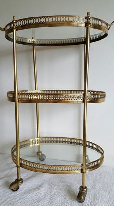 Vintage French drinks trolley.