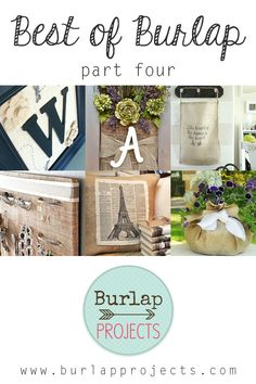 If you are one that is always looking for the perfect Burlap DIY Project...take a minute to check out Best of Burlap Part Four, you will find something 4 u!