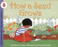 How a Seed Grows (Let's-Read-and-Find-Out Science 1) by Helene J. Jordan, http://www.amazon.com/dp/0064451070/ref=cm_sw_r_pi_dp_O90brb0RFYABR