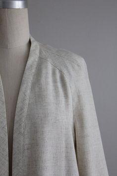 beige linen jacket | swing jacket | minimal beige jacket