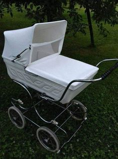 Baby Carriage, Prams, Outdoor Furniture, Outdoor Decor, Sun Lounger, Baby Strollers, Retro, Infant, Childhood