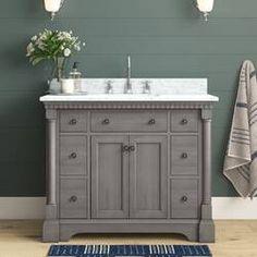 "Ka 36"" Single Bathroom Vanity Set & Reviews | Joss & Main Single Bathroom Vanity, Small Bathroom, Bathroom Ideas, Master Bathroom, Bathroom Interior, Bath Ideas, Best Bathroom Vanities, Bathroom Updates, Shower Ideas"