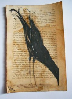 """Crows Ravens:  """"#Crow Egypt to Poland,"""" Original Painting by AGambrel."""
