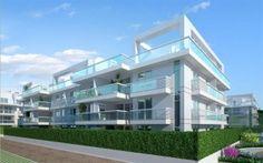 Fachada dos prédios do Private Aqua & Gourmet Residences Recreio