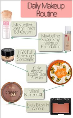 My daily winter makeup routine, if I want fuller coverage. It works well for my oily but sensitive skin.