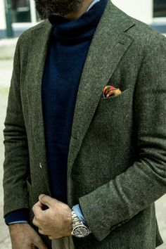 Styleforum Classic Menswear - via the WAYWT thread on. Tweed Sport Coat, Tweed Run, Sharp Dressed Man, Well Dressed Men, Next Fashion, Daily Fashion, Beard Suit, Outfit Man, Casual Wear For Men
