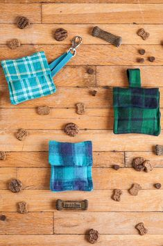 This DIY project is a great way to re-use some old clothing (yours or your pup's) and create a custom treat bag that fits your needs!