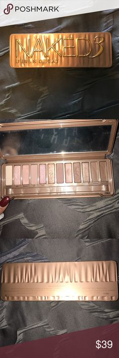1 hour sale! NAKED3 Urban decay palette Brand new!  but dropped it & 2 of the shadows broke & fell out (pictured) 😩 Mirror still has plastic on it. Priced to sell! Urban Decay Makeup Eyeshadow