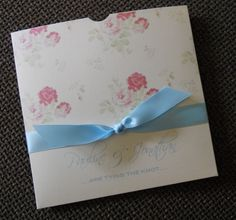 Wallet Style Cath Kidston Style Vintage Invitation, any colour scheme
