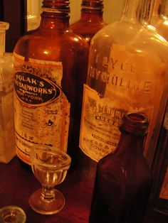 collection of antique bottles and medical supplies. $100.00, via Etsy.