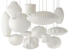 A família das Bubble lamps, criadas por George Nelson em 1947 em plástico sobre aramado de aço, foi relançada pela Modernica. Inclui mais…
