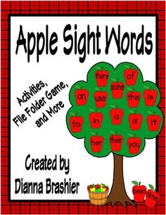 Do you need a fun way for your students to interact with sight words? I created an apple themed sight word packet.