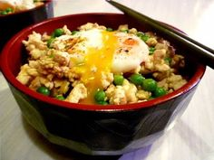 Minced Chicken Bowl 鶏そぼろ丼 Tori Soboro Don