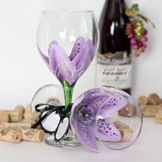 I want flower wine glasses like this