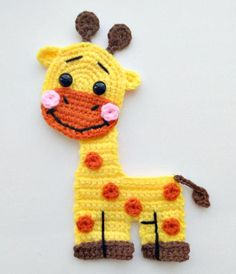 PATTERN Giraffe Applique Crochet Pattern PDF Jungle Animal