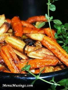 "Roasted Carrots and Parsnips - not a ""fancy"" recipe, but oh my goodness these are so fabulous!!"