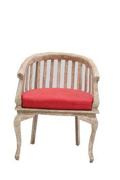 Komodo White Antique Satin Wood Chair (ICHA 14)