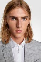 Image 3 de COSTUME À CARREAUX GRIS de Zara Pantalon Costume, Zara, Gray, Plaid Suit, Suit Jacket