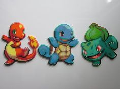 Pokemon Starters No.1 by 8-BitBeadsStudio