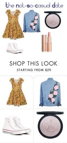 """Not-So-Casual Date"" by hanahroo on Polyvore featuring Converse"