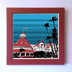 "Gallery: Pop series ""Cool day at Hotel Del Coronado"" (2015) 12 x 12 inch, digital art - Giclee print on enhanced matte paper with glass framed. Stain red, 14 x 14 inch. Signed by Jon Savage ---------------------------------------- #art #artist #popart #popartist #digitalart #contemporary #contemporaryart #cmyk #Coronado #HotelDelCoronado #hotel #sandiego #california #jonsavagegallery"