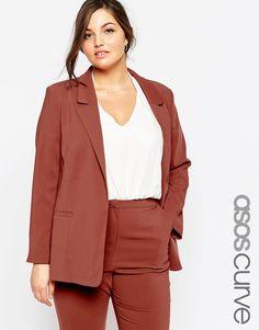 dae03e33c1b ASOS CURVE Premium Tailored Blazer at asos.com
