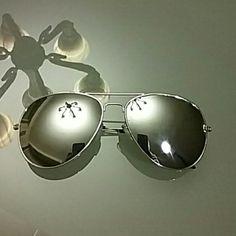 Sunglasses Fasion frog mirror singlasses Aviator singlasses vintage eyeglasses gladses women & men polarized lenses sunglasses (silver frame mirrord). New but no tag. Accessories Glasses