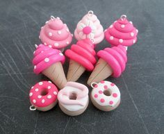 Clay Charms Pink Polymer Clay