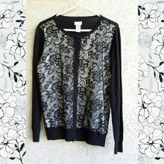 * Black Lace Cardigan * New * Beautiful lace cardigan by Jaclyn Smith. New with tages. Size large. Jaclyn Smith Sweaters Cardigans