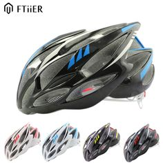 Ftiier mtb helmet casco bicicleta casque velo with Tail LED warning light cycling helmet bicycle helmet capacete ciclismo