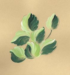 Bauernmalerei Leaves for Roses 2, Decorative Painting online lessons