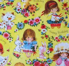 Vintage Gift Wrap. I love, love, love to find vintage wrapping paper. :)