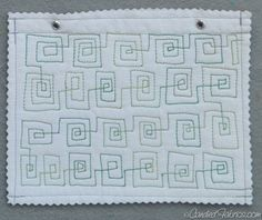 Free Motion Quilting Sampler Book | Candied Fabrics