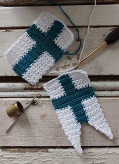 Bob's hand traces: Crochet flag Help