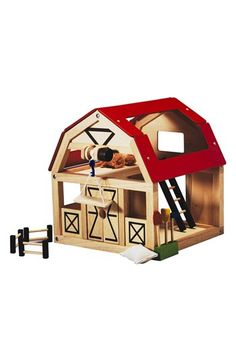 PlanToys® Wooden Barn Toy available at #Nordstrom