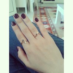 #bordeaux #matte #nailpolish #rings  #myhand #gorgeous