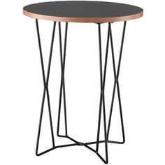 End Table Black (€89) ❤ liked on Polyvore featuring home, furniture, tables, accent tables, ebony table, black occasional tables, black side table, colored furniture and onyx furniture