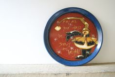 Rustic Snowman Plate Hand Painted Christmas Snowman by Ramshackles