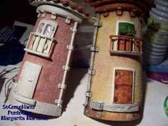 manualidades teja decorada 2 Paper Clay, Clay Art, Roof Tiles, Decorative Tile, Bottle Crafts, 3 D, Decoupage, Diy And Crafts, Stone