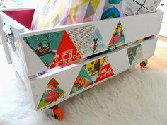 Pretty Organized Book - storage box with wheels