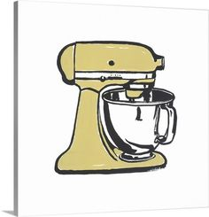 Classic Kitchen Mixer Wall Art by Michael Leavitt via @greatbigcanvas available at GreatBIGCanvas.com.
