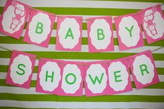 How cute is this baby shower banner!