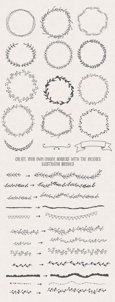Handsketched Designers Branding Kit by Nicky Laatz at CreativeMarket