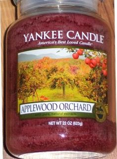 "Making a return for Autumn 2014 a treasure candle ""Applewood Orchard"" Yankee Candle"