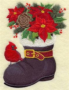 Machine Embroidery Designs at Embroidery Library! - Poinsettias