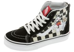 a738b7bbdb Vans Childrens Sk8 Hi Zip Disney Mickey Checkerboard