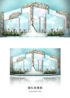 31 Ideas For Weding Cars Decorations Blue Wedding Car, Blue Wedding, Wedding Photo Walls, Simple Wedding Decorations, Photo Corners, Event Styling, Event Decor, Event Design, Wedding Designs