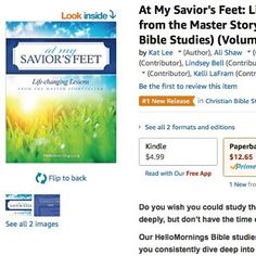 ..... In case you didn't notice that's a #1 New Release on Amazon and I got to help write it!!! WHAT!?! ..... #hellomornings #biblestudy #parables #atmysaviorsfeet #masterstoryteller #quietlyreminded #linkinprofile