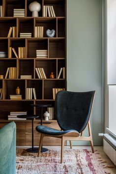 Decoration, Living Room Designs, Home Office, Bookcase, Dining Chairs, Mid Century, Room Decor, Shelves, Interior Design